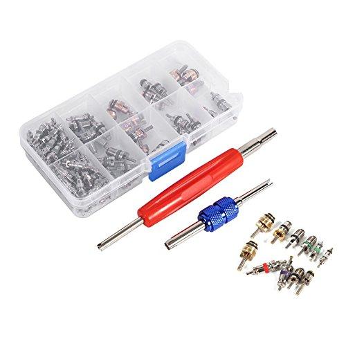 cutogain KFZ Klimaanlage Ventil Core Zubehör Kältetechnik R134A Tire Stiel Entferner Tool Kit (Ac Heater Motor)
