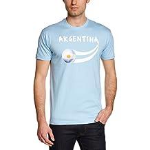 Supportershop Argentina Coup du Monde - Camiseta, color azul cielo, talla L