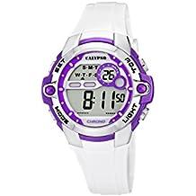 Calypso watches Calypso watches - Reloj digital de cuarzo para niña con correa de plástico, color blanco