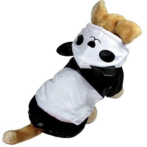 Pegasus Hund Panda Kostüm mit Kapuze vierbeinigen Jumpsuit für kleine Hunde Katze (Halloween Vierbeinigen Kostüm)