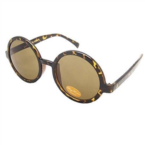 Polaroid P4413B polarisé femmes de marque '' s Gold Frame arrondi carrés lunettes de soleil écaille brun bras en plastique Brun Lens 100 % UV 400 Protection & anti-reflets CAT 3 eqVeHj