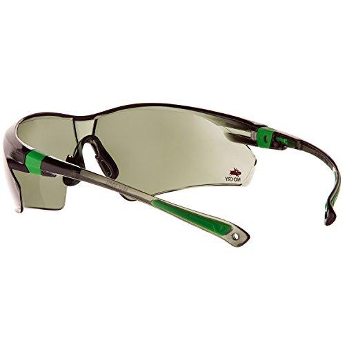 NoCry Sonnen-Schutzbrille mit grün getönten, kratzbeständigen Gläsern, Seitenschutz und rutschfesten Bügeln, UV 400 Schutz, verstellbar, schwarz grüner Rahmen. - 8