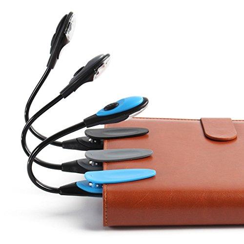 Bazaar Tragbare flexible Mini Klipp auf Buch Schreibtisch Licht Hellweiß Leselampe