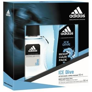 Adidas Herrendüfte Ice Dive Geschenkset After Shave 100 ml + Shower Gel 250 ml 1 Stk.