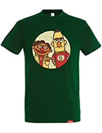 Camiseta The Puppet Paradox - The Big Band Theory – Sesame Street - Color  Verde Botella fc68de184b0