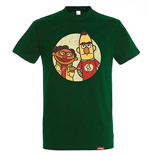 4052bcf78b Camiseta The Puppet Paradox - The Big Band Theory – Sesame Street - Color  Verde Botella