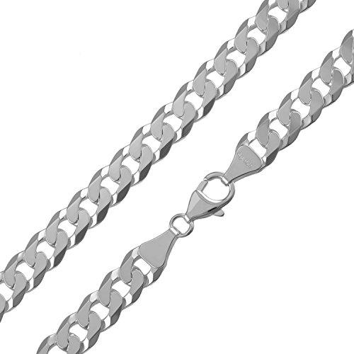Panzerkette 925 Silber Weiss Facettiert Halskette Armband Breite 7,80mm NEU (14/24-35922) (45)