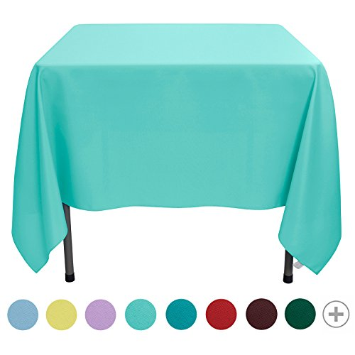 Veeyoo tonda rettangolare quadrato solido poliestere tovaglia matrimonio ristorante party tovaglia, tessuto, turquoise, square-178 x 178 cm