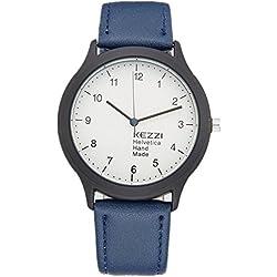 mercimall blau helvetica Hand Made Classy Casual Handgelenk Uhren Unisex