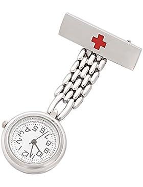 ShoppeWatch Krankenschwester Fob Uhr für Frauen Revers Pin einfache gelesene Armbanduhr NW-236