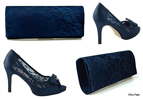 chic-feet-ladies-new-navy-blue-satin-lace-wedding-bridal-evening-high-heel-court-shoes-matching-clut