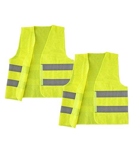 COM-FOUR® Sicherheits Warnweste 100% Polyester Einheitsgröße DIN 471 (02)