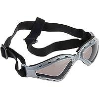 SODIAL(R) Gafas Protectoras Color Gris para Mascotas Perro Correa Ajustable