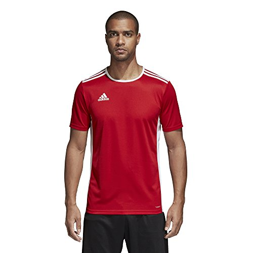 adidas Entrada 18 JSY T-Shirt, Hombre, Power Red/White, L