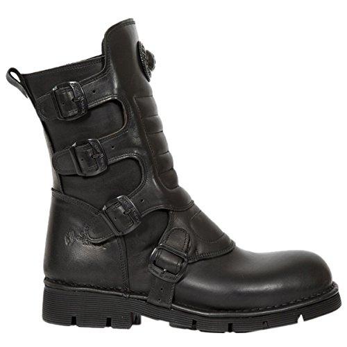 New Rock Mens M.373X-S6 Leather Boots Noir