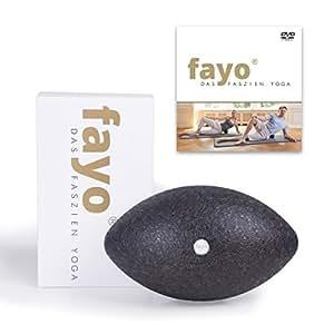 Liebscher & Bracht FAYO Faszienball / Faszienrolle, Ball zur Selbstmassage, zum Faszien-Yoga und Faszientraining, 21cm, mit Übungs-DVD