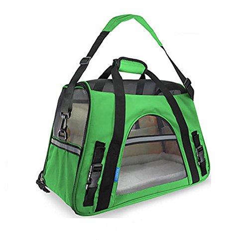 AnGe Transporttasche für Haustiere, weiche Seitenteile , green , small