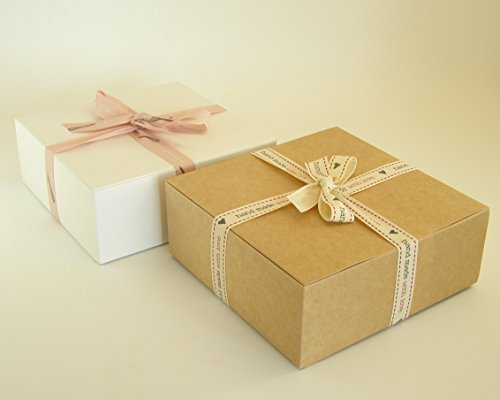5 x Self Assembly Gift Boxes (#D) Perfect for Gift Presentation for toiletries, chocolates, cakes, biscuits, dried food, ceramics, sweets etc