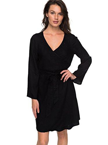 Roxy Small Hours - Wrap Dress for Women - Wickelkleid - Frauen - M - Schwarz -