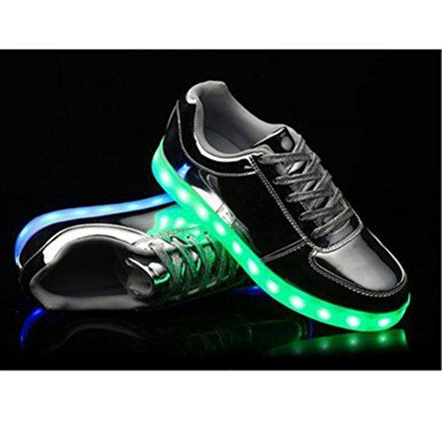 [Presente:piccolo asciugamano]JUNGLEST® Unisex High Top LED lampeggiante scarpe da ginnasti c7