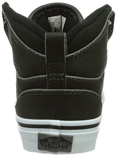 Vans Y Atwood Hi (Leather) Black, Baskets mode mixte enfant Noir ((Leat)