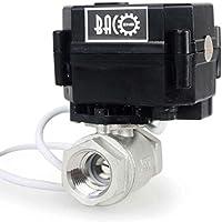 "BACOENG 1/2"" DN15 Válvula Motorizada de Esfera de 2 Vías de Acero Inoxidable de DC12V CR02 NC"