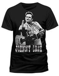 Johnny Cash T-Shirt Flippin - T-Shirt (M)