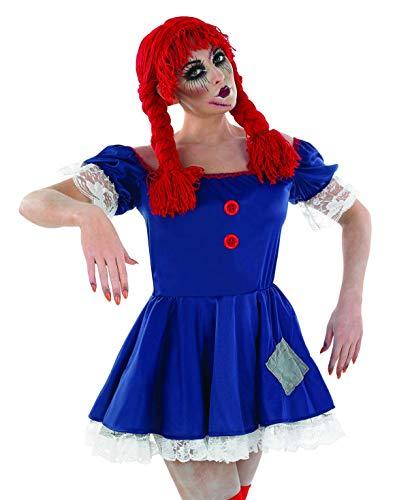 Dead Doll Kostüm Kind - Partypackage Ltd Stoffpuppen-Damen-Kostüm gruseliges Halloween-Kostüm Gr. L