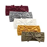 Baby Girl Nylon Headbands Newborn Infant Toddler Hairbands and Bows Child Hair Accessories (Multicolor-ZM13)