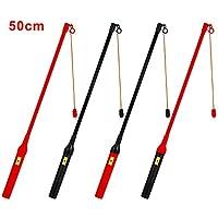 EasyAcc 4 x Eletkrischer Laternenstab mit LED 50cm für St. Martin Kindergeburtstage Parties Laternenumzüge und mehr 4 Pack Schwarz/Rot