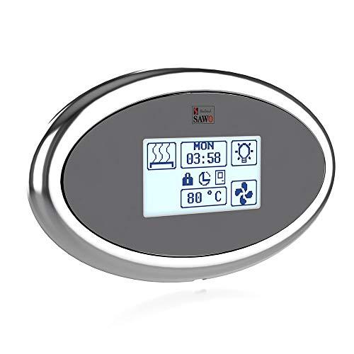 SAWO Innova Touch Steuereinheit für elektrische Saunaöfen, Touchscreen Bedienfeld und Netzteil, Multispannung: entweder einphasig oder dreiphasig; für Saunaofen mit Dampfgarer (Combi)