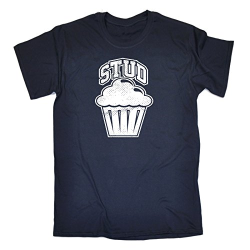 123t Slogans Men's STUD MUFFIN (XXL - NAVY) LOOSE FIT T-SHIRT - Buy