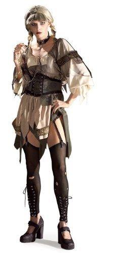 Faschingskostüm Böse Gretel, Verkleidung für Damen Größe M, Trash-Dirndl für Fasching, Karneval, Halloween, Kostüm-Party