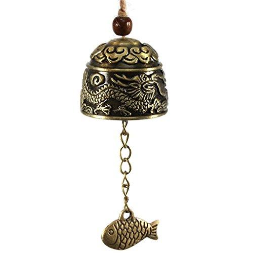 MOCHOAM Campana de Agua de Viento de Dragón Chino Bendiga Buena Suerte Colgando carillones de Viento