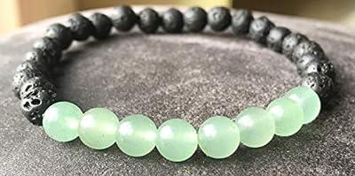 bracelet AVENTURINE verte traitement naturel contre le psoriasis Pierres naturelles semi-précieuses Authentiques