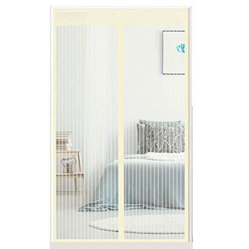 YSA Heavy-Duty-Mesh-Vorhang, Silent Magnetic Screen-Tür für französische Türen Full-Frame-Klettverschluss Instant Open und Close Hands Free kann zum Schieben verwendet Werden, (28x79inch) -