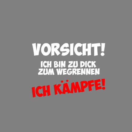 Zu dick zum Wegrennen - Herren Langarm T-Shirt Schwarz