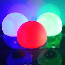 """AGPtek ® [Una Pieza]3""""/8cm RPG LED para Piscinas Bolas Flotantes para Decoración de Piscina, Jardín, Estanque, Intermitente para Fiestas (Color RGB)"""