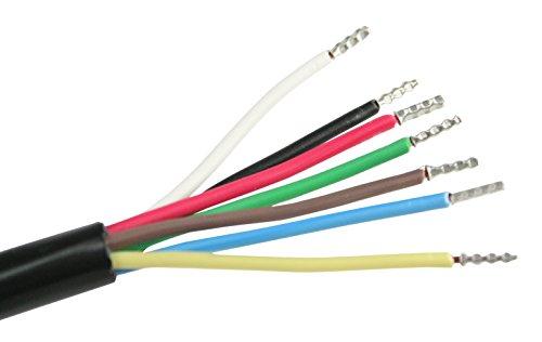 Preisvergleich Produktbild as - Schwabe 10 Meter Kfz Leitung, 7 polig, Anhänger-Kabel für PKW, LKW, Traktor Fahrzeugkabel, 7 x 1 mm, schwarz, 71890