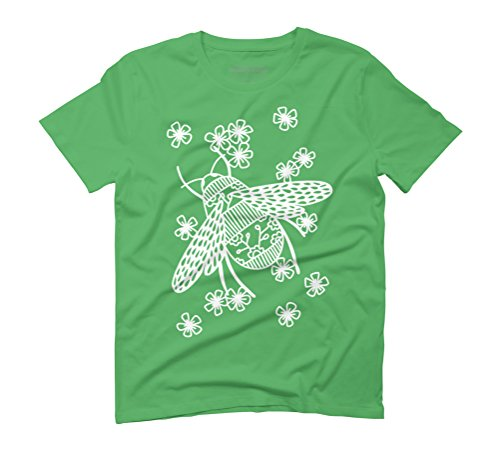 Bees Papercut Men's Graphic T-Shirt - Design By Humans Green