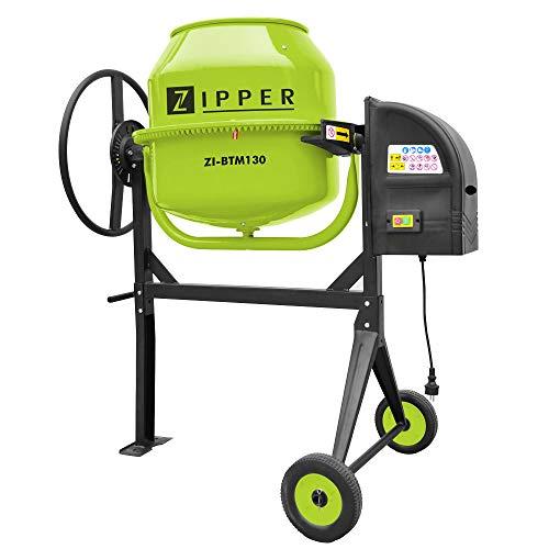 Hormigonera electrica 130 litros Zipper ZI-BTM130 550W 26rpm piñon de hierro