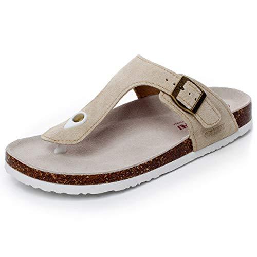 Infradito uomo ciabatte sandali donna sughero pantofole pantaloncini spiaggia leggero supporto morbida suola piatta zoccoli(bianco,38/39 eu,24cm dal tallone alla punta,40 taglia etichetta