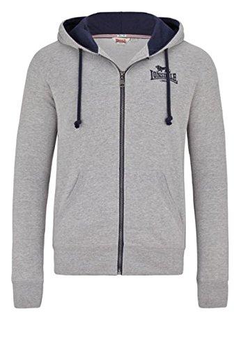 Lonsdale Giacca Chatt estremità felpa uomo con cappuccio Zips-Marl Grey multicolore M