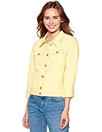 Debenhams Red Herring Womens Pale Yellow Denim Trucker Jacket