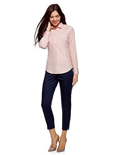 oodji Ultra Donna Camicia Basic in Cotone Rosa (4001N)