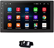 Ossuret Android 10 Universal Car GPS Navi 2 Din Car Stereo Radio with Free Backup Camera Support Bluetooth Mir