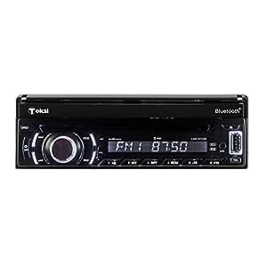 TOKAI - LAR5723B - AutoRadio Bluetooth - Lecteur de DVD - RDS - MP3 - USB - CD -R - CR -RW - Façade Amovible - Ecran Tactile Noir