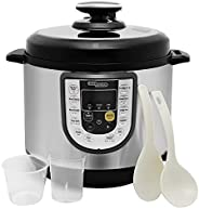 Super General 6 Liter Stainless Steel Pressure Cooker, Electric Cooker with Digital Display, Multi-Functional,
