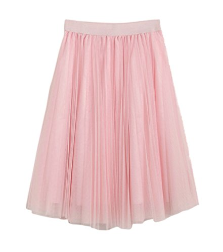 Honeystore Damen's Unterrock 50er Retro Tüllrock Tutu Petticoat Tanzkleid Rosa One (Kostüme Halloween Vintage Ebay)