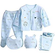 Sayla Ropa Bebe NiñA Invierno NiñO Manga Larga Camisetas Conjuntos Moda 5PCS Bebé ReciéN Nacido NiñA